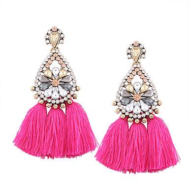 97c6f198bf62 abordables Pendientes-Mujer Zirconia Cúbica Borlas Pendientes colgantes  Diamante Sintético Aretes Gota Vintage Europeo Étnico
