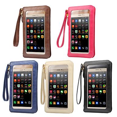 voordelige Universele hoesjes & tasjes-hoesje Voor Blackberry / Apple / Samsung Galaxy Universeel Kaarthouder Buideltas Effen Zacht PU-nahka