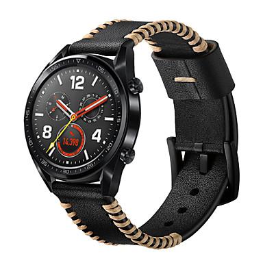 Недорогие Ремешки для часов Huawei-Ремешок для часов для Huawei Watch GT Huawei Современная застежка Натуральная кожа Повязка на запястье