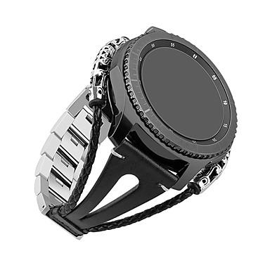 voordelige Horlogebandjes voor Samsung-Horlogeband voor Gear S3 Frontier / Gear S3 Classic Samsung Galaxy DHZ Gereedschap Leer Polsband