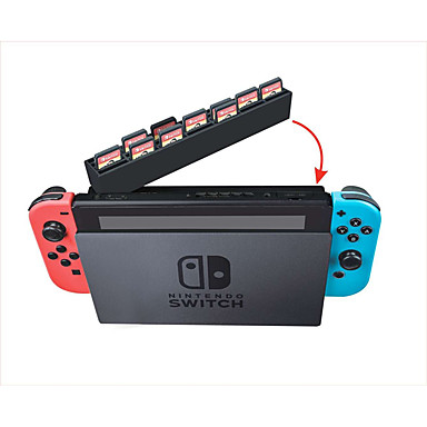 olcso Videojáték tartozékok-kártya tároló doboz Nintendo kapcsolóhoz, hordozható kártya tároló doboz PVC (polivinil-klorid) 1 db egység