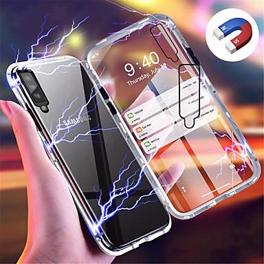 voordelige Galaxy A-serie hoesjes / covers-hoesje Voor Samsung Galaxy Galaxy A7(2018) / Galaxy A30 (2019) / Galaxy A50 (2019) Magnetisch Achterkant Effen Hard Gehard glas