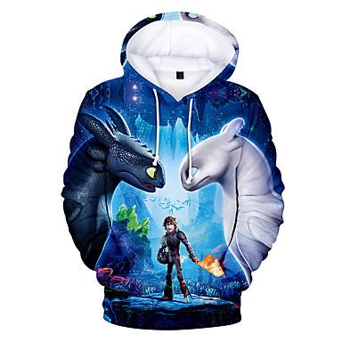 cheap Boys' Hoodies & Sweatshirts-Kids Toddler Boys' Basic Print Print Long Sleeve Hoodie & Sweatshirt Blue