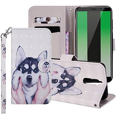voordelige Huawei Mate hoesjes / covers-hoesje Voor Huawei Mate 10 / Mate 10 lite / Huawei Mate 20 lite Portemonnee / Kaarthouder / met standaard Volledig hoesje Hond Hard PU-nahka