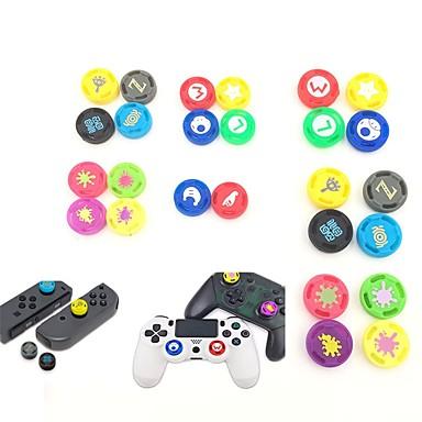 olcso Videojáték tartozékok-4 darab játékvezérlő hüvelykapcsoló fogantyú a nintendo kapcsoló pro ps4 xbox egyik fogantyújához