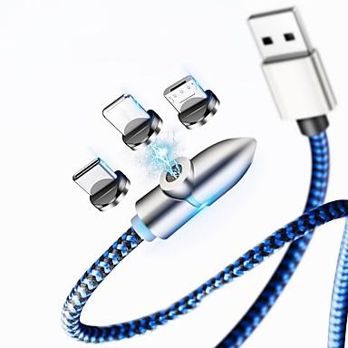 halpa Kaapelit ja adapterit-Mini USB Kaapeli Magnetic / 41642.0 Nylon USB-kaapelisovitin Käyttötarkoitus Samsung / Huawei / iPhone