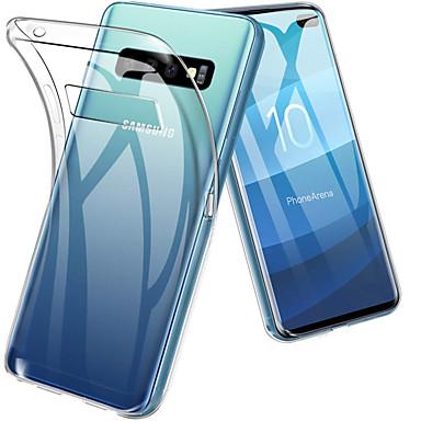 Недорогие Чехлы и кейсы для Galaxy S6 Edge-Кейс для Назначение SSamsung Galaxy S9 / S9 Plus / S8 Plus Защита от удара / Ультратонкий / Прозрачный Кейс на заднюю панель Однотонный Мягкий ТПУ