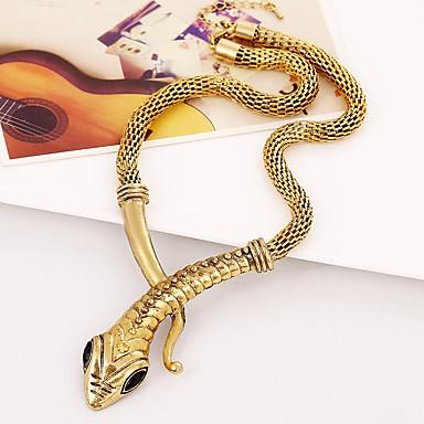 economico Collana-Per donna Girocolli Serpente Cromo Oro Argento 45+5 cm Collana Gioielli 1pc Per Carnevale
