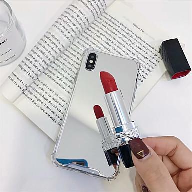 voordelige iPhone 6 hoesjes-hoesje voor apple iphone xr / iphone xs max spiegel achterkant effen gekleurde zacht gehard glas voor iphone x xs 8 8 plus 7 7 plus 6 6 plus 6s 6s plus