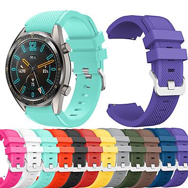 Недорогие Ремешки для часов Huawei-Ремешок для часов для Huawei Watch GT / Watch 2 Pro Huawei Спортивный ремешок силиконовый Повязка на запястье
