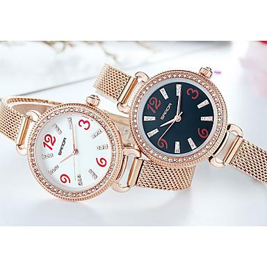 preiswerte Damen Uhren-SANDA Damen Quartz Uhr Modisch Elegant Rotgold Edelstahl Quartz Weiß Schwarz Rotgold Armbanduhren für den Alltag 1 Stück Analog Ein Jahr Batterielebensdauer
