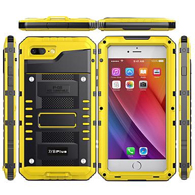 voordelige iPhone X hoesjes-hoesje Voor Apple iPhone XS / iPhone XR / iPhone XS Max Waterbestendig / Schokbestendig Achterkant Effen Hard Metaal