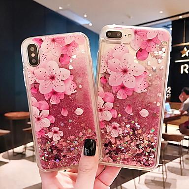 voordelige iPhone 5 hoesjes-hoesje Voor Apple iPhone XS / iPhone XR / iPhone XS Max Stromende vloeistof / Patroon Achterkant Bloem Zacht TPU