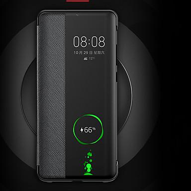 ieftine Carcase / Huse de Huawei-Maska Pentru Huawei Huawei Mate 20 Pro / Huawei Mate 20 Întoarce / Suspendare / Revenire Automată Capac Spate Mată Greu PU piele pentru Huawei P30 / Huawei P30 Pro / Mate 10