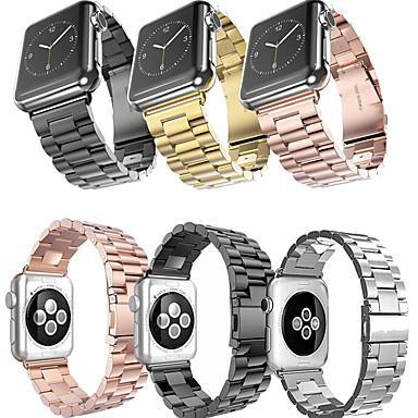 Недорогие Ремешки для Apple Watch-металлический браслет из нержавеющей стали ремешок для часов ремешок для яблока серии 1/2/3/4 38 мм 40 мм 42 мм 44 мм