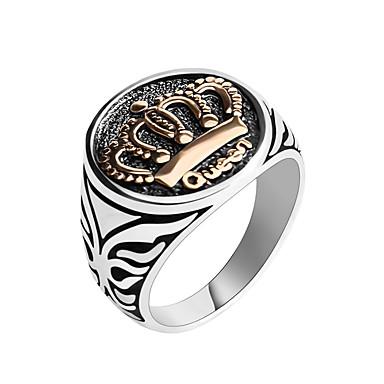 זול טבעות-בגדי ריקוד גברים טבעת Fashion Ring תכשיטים כסף עבור מתנה יומי 2pcs