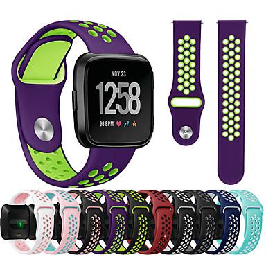 billige Tilbehør til smartklokke-Klokkerem til Fitbit Versa / Fitbit Versa Lite Fitbit Sportsrem Silikon Håndleddsrem