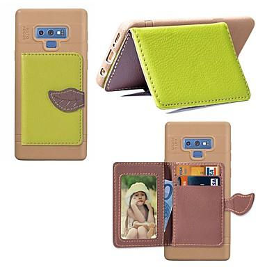 voordelige Galaxy Note-serie hoesjes / covers-hoesje Voor Samsung Galaxy Note 9 / Note 8 Kaarthouder / Schokbestendig / met standaard Achterkant Landschap / Boom Hard PU-nahka