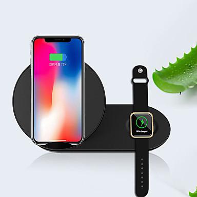 voordelige Apple Watch-bevestigingen & -houders-2-in-1 draagbare ultradunne kluisstandaard draadloze oplader snel opladen voor mobiel kijken
