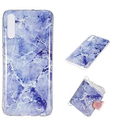 voordelige Galaxy A-serie hoesjes / covers-hoesje Voor Samsung Galaxy A6 (2018) / A6+ (2018) / Galaxy A7(2018) Schokbestendig / IMD / Patroon Achterkant Marmer Zacht TPU