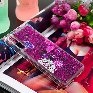 Case For Samsung Galaxy Galaxy A30(2019) / Galaxy A50(2019) Shockproof / Flowing Liquid / Pattern Back Cover Butterfly / Glitter Shine / Flower Soft TPU for Galaxy A7(2018) / A3(2017) / A5(2017)