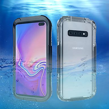 voordelige Galaxy S-serie hoesjes / covers-hoesje Voor Samsung Galaxy Galaxy S10 / Galaxy S10 Plus / Galaxy S10 E Waterbestendig Achterkant Effen Hard Muovi