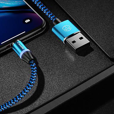 Недорогие Универсальные аксессуары для мобильных телефонов-caseme type-c кабель магнитное зарядное устройство кабель телефона быстрая зарядка светодиодная 1,0 м (3 фута) нейлоновая оплетка для Samsung / Huawei / Sony / Xiaomi / OPPO / VIVO