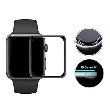 Недорогие Защитные пленки для Apple Watch-Защитная плёнка для экрана Назначение iWatch 42мм Закаленное стекло Зеркальная поверхность 2 штs