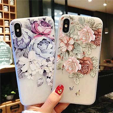 voordelige iPhone 6 Plus hoesjes-geval voor apple iphone 7 / iphone 7 plus / iphone 6 plus reliëf achterkant bloem zachte tpu voor iphone xs max / xs / xr 6s 6 splus 7 8 7 plus 8 plus