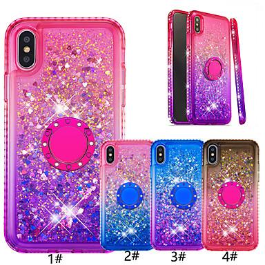 voordelige iPhone 7 hoesjes-hoesje voor apple iphone xr / iphone xs max glitter shine / ringhouder achterkant kleurverloop soft tpu voor ir iphone 6/6 plus / 6s / 6s plus / 7/7 plus / 8/8 plus / x / xs