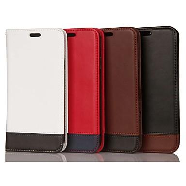 voordelige Galaxy Note-serie hoesjes / covers-hoesje Voor Samsung Galaxy Note 9 / Note 8 / Note 5 Kaarthouder / Schokbestendig / met standaard Volledig hoesje Geometrisch patroon Hard aitoa nahkaa
