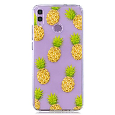 voordelige Huawei Y-serie hoesjes / covers-hoesje voor huawei honor 8x / huawei p smart (2019) patroon / transparante achterkant ananas zachte tpu voor mate20 lite / mate10 lite / y6 (2018) / p20 lite / nova 3i / p smart / p20 pro