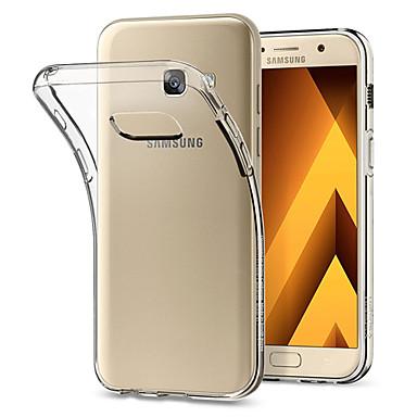 Недорогие Чехлы и кейсы для Galaxy A3-Кейс для Назначение SSamsung Galaxy A3 Защита от пыли / Ультратонкий Кейс на заднюю панель Однотонный Мягкий ТПУ