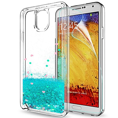 Недорогие Чехлы и кейсы для Galaxy Note 3-Кейс для Назначение SSamsung Galaxy Note 3 Защита от удара / Движущаяся жидкость Кейс на заднюю панель Сияние и блеск Мягкий ТПУ