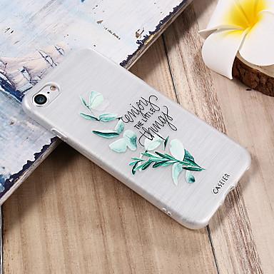 voordelige iPhone 5 hoesjes-hoesje voor Apple iPhone X / iPhone 7 plus waterdicht / stofdicht / doorschijnende achterkant bloem zachte TPU / frisse mode shell telefoonhoesje voor iPhone 5 / 5s / 6 / 6s / iPhone 6 / 6s plus /