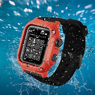 Недорогие Корпуса Apple Watch с ремешком-Корпус с ремешком для часов Apple серии 2 / Apple Watch серии 3 / Apple Watch серии 4 пластик / силикон совместимость яблоко