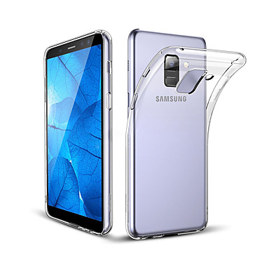 voordelige Galaxy A-serie hoesjes / covers-hoesje Voor Samsung Galaxy A8+ 2018 / A8 Schokbestendig / Stofbestendig Achterkant Transparant Zacht TPU / silica Gel