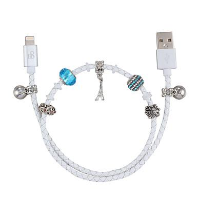 povoljno Mac kabeli-d8 mfi kabel munje mikro usb / kabel munje 0.5m (1.5ft) umjetna koža pleten kabel za punjenje podatkovni kabel kabel za brzo punjenje za iPhone / ipad / ipod