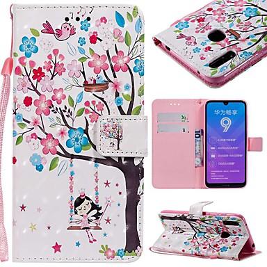 voordelige Huawei Y-serie hoesjes / covers-hoesje Voor Huawei Huawei Nova 3i / Mate 10 / Mate 10 pro Portemonnee / Kaarthouder / Schokbestendig Volledig hoesje Boom Hard PU-nahka