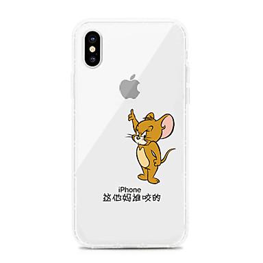 voordelige iPhone X hoesjes-hoesje Voor Apple iPhone XS / iPhone XR / iPhone XS Max Schokbestendig / Stofbestendig / Transparant Achterkant Transparant / Cartoon TPU