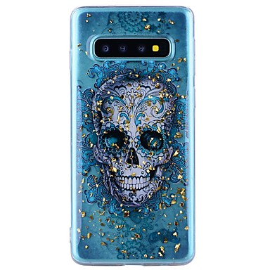 voordelige Galaxy Note-serie hoesjes / covers-hoesje Voor Samsung Galaxy Note 9 / Note 8 Schokbestendig / Transparant / Patroon Achterkant Doodskoppen Zacht TPU