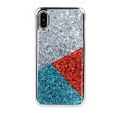 voordelige iPhone 6 Plus hoesjes-hoesje Voor Apple iPhone XS / iPhone XR / iPhone XS Max Schokbestendig / Beplating Achterkant Geometrisch patroon Zacht TPU / PC