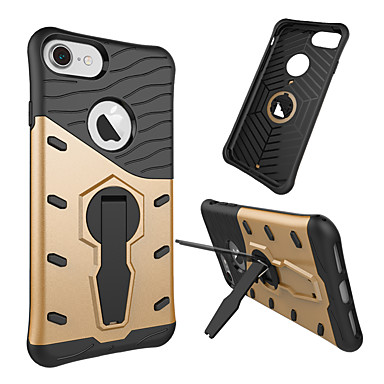 Недорогие Кейсы для iPhone-Кейс для Назначение Apple iPhone 8 Pluss / iPhone 8 / iPhone 7 Plus Поворот на 360° / Защита от удара / Защита от пыли Кейс на заднюю панель Имитация дерева / Полосы / волосы Твердый ТПУ / ПК
