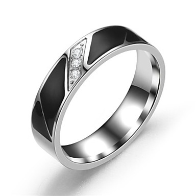 cheap Men's Rings-Men's / Women's Band Ring / Ring / Tail Ring 1pc Silver Stainless Steel Circular Basic / Fashion Gift / Daily Costume Jewelry