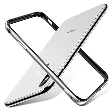 Недорогие Кейсы для iPhone-Кейс для Назначение Apple iPhone X Ультратонкий Бампер Однотонный Твердый Металл