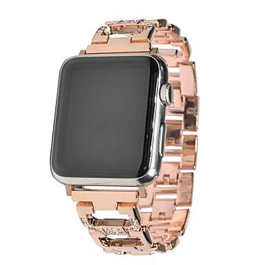 Недорогие Ремешки для Apple Watch-Ремешок для часов для Apple Watch Series 4/3/2/1 Apple Современная застежка Нержавеющая сталь Повязка на запястье