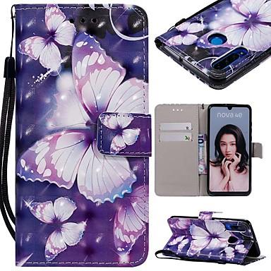 ieftine Carcase / Huse de Huawei-Maska Pentru Huawei P20 Pro / Huawei P30 Lite Portofel / Titluar Card / Anti Șoc Carcasă Telefon Fluture Greu PU piele pentru Huawei P20 / Huawei P20 Pro / Huawei P20 lite