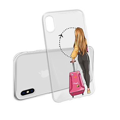 voordelige iPhone 5 hoesjes-geval voor iphone xs max x xr 8 plus achterkant van de behuizing zachte sexy meisje transparante mobiele telefoon geval waterdicht en anti-kras anti-kras zacht tm voor iphone 7 plus 7 6 plus 6 5 se 5s