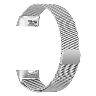cheap Smartwatch Accessories-Watch Band for Fitbit Charge 3 Fitbit Milanese Loop Stainless Steel Wrist Strap