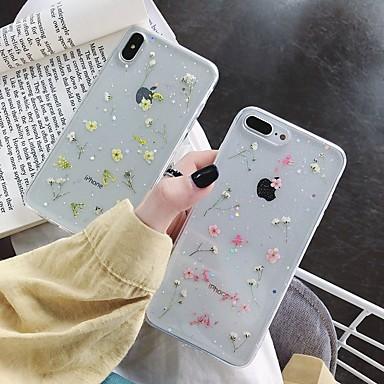 voordelige iPhone 7 hoesjes-hoesje Voor Apple iPhone XS / iPhone XR / iPhone XS Max Schokbestendig / Transparant / Patroon Achterkant Bloem TPU